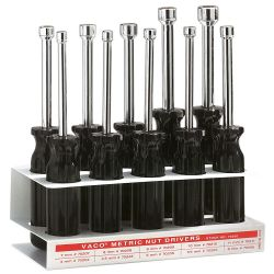 70200 Metric Nut Driver Set 3-Inch Shanks, 10-Piece
