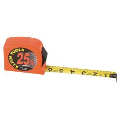 928-25HV Tape Measure, High Visibility Case, 25-Foot