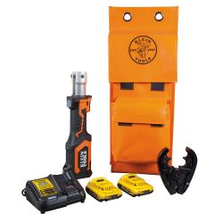 bat207t23 Battery-Operated 7-Ton Cable Crimper Kit