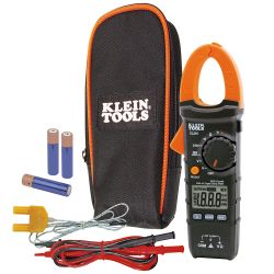 CL210 Clamp Meter, Digital AC Auto-Ranging Tester with Thermocouple Probe
