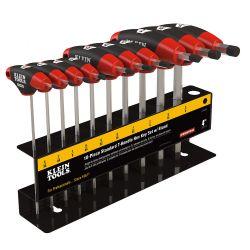 JTH410E SAE T-Handle Hex Key Set, Stand, 4-Inch, 10-Piece