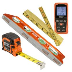 Levels & Measuring Tools - Quick, easy and accurate measurements can make the difference between a job well done and one that misses the mark. Klein Tools helps professionals measure up to the task at hand. The available levels and measuring tools offer the precision and reliability needed to get the job done right.