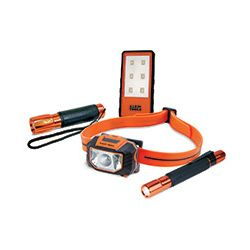 Lights and Accessories - Klein's illumination line provides the tools to make your life easier and more efficient both on and off the jobsite. From hands-free lighting solutions such as headlamps and work lights to handheld flashlights and penlights, you can find the right tool to light your way. They offer the durability and reliability you know and trust.
