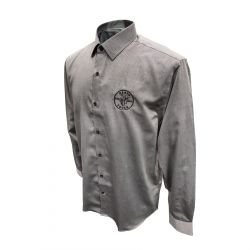 mba00035-3 Mens Long Sleeve Shirt Gray, XL