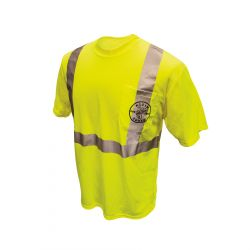 mba00055-1 Reflective HiViz Green T-Shirt, Medium