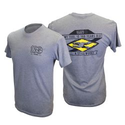 mba00093-5 T-Shirt, Short Sleeve, Gray, 160 Ltd Ed, Mens XXXL