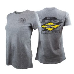 mba00093-w2 T-Shirt, Short Sleeve, Gray, 160 Ltd Ed, Women's M