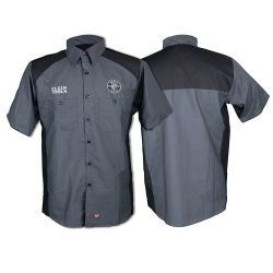 MBA00124-2 Shirt, Short Sleeved, Gray/Black, Logo/Lineman, L