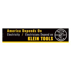 MBE00116 Bumper Sticker, Electricians Depend on Klein Tools