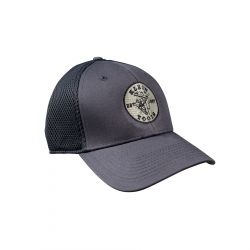 MBH00037-C New Era Fitted Mesh Cap Gray, M/L