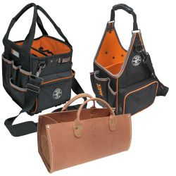 Tool Totes - Klein Tools' Tool Totes come in variety of unique sizes and pocket arrangements to suit your needs. With shoulder strap pouches, bucket bags and everything in between, you can be sure there will be a tote that works on your specific jobsite. All totes have easy-to-access openings, meaning your tools are never far away. Made of strong materials to hold up to the elements, these totes are sure to be the perfect addition to your Klein Tools collection.