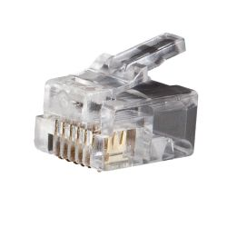 VDV826-600 Modular Telephone Plugs RJ11 6P6C, 25-Pack