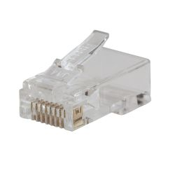 VDV826-702 Pass-Thru™ Modular Data Plug, CAT5E, 50-Pack