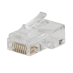 VDV826-703 Pass-Thru™ Modular Data Plug, CAT6, 50-Pack