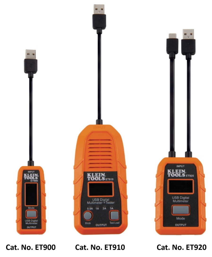 Klein Tools'® USB Digital Meters and Tester Monitor the