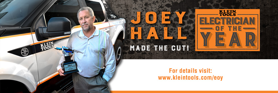 Klein Tools 2015 Electrician of the Year Winner - Joey Hall