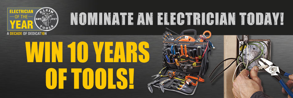 Klein Tools - 2016 Electrician of the Year