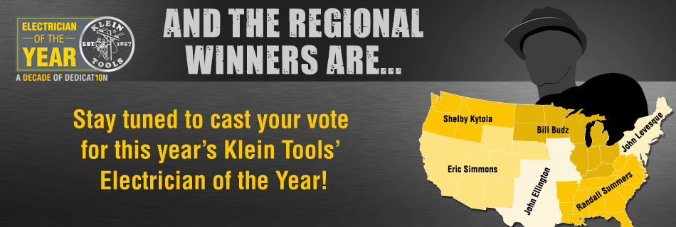 Klein Tools - 2016 Electrician of the Year Regional Winners Announced!