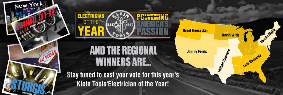 Klein Tools 2017 Electrician of the Year - Regional Winners Announced