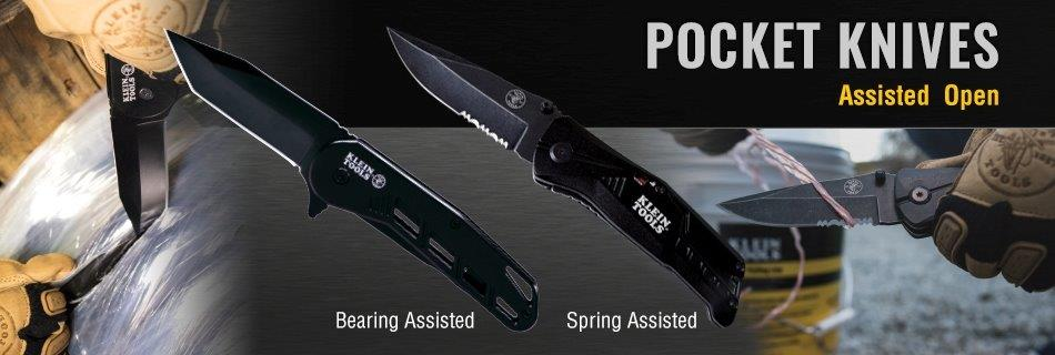 Klein Tools - New Assisted Open Pocket Knives