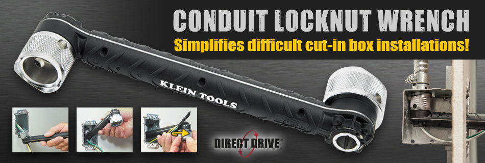 Klein Tools - New Conduit Locknut Wrench