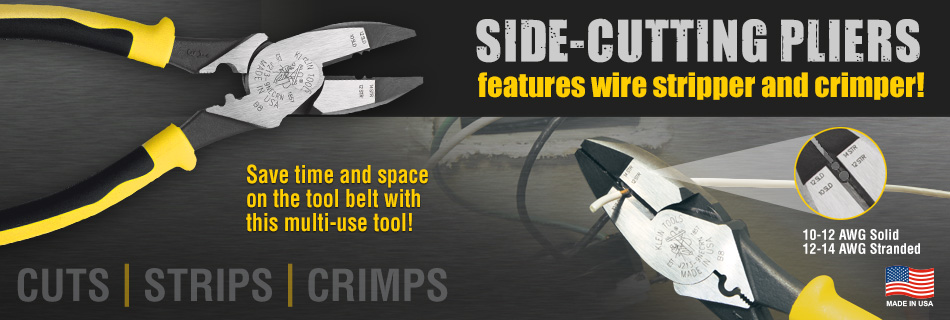 Journeyman Side-Cutters with Wire Stripper/Crimper