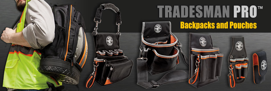 Klein Tools - new Tradesman Pro Bags and Pouches