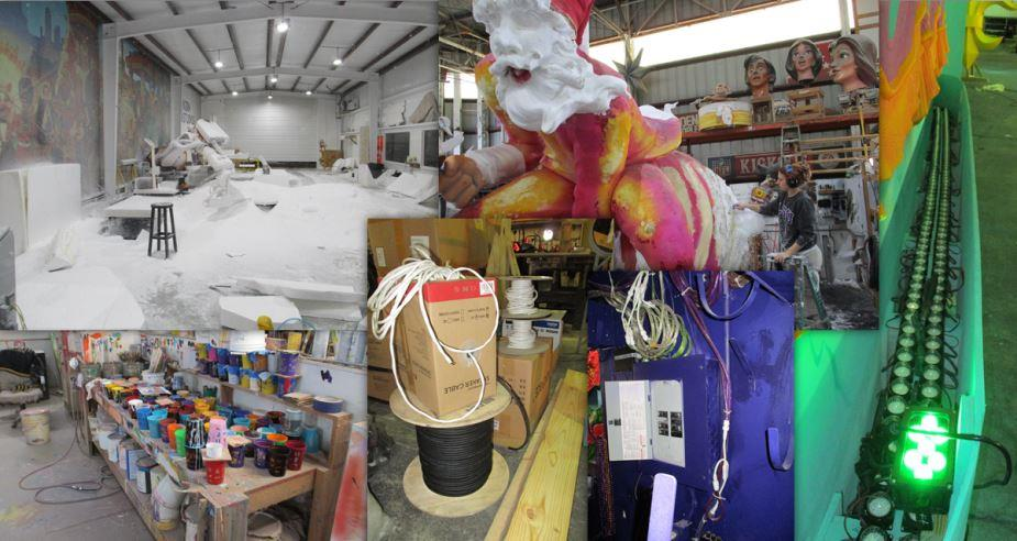 Kern Studios - Mardi Gras - Many components help floats take shape at Kern Studios