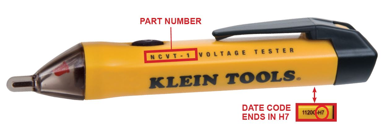 NCVT-1 Recall Date Codes