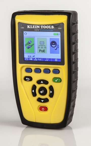 Klein tools introduces vdv commander series cable testers for Canape network testing tool