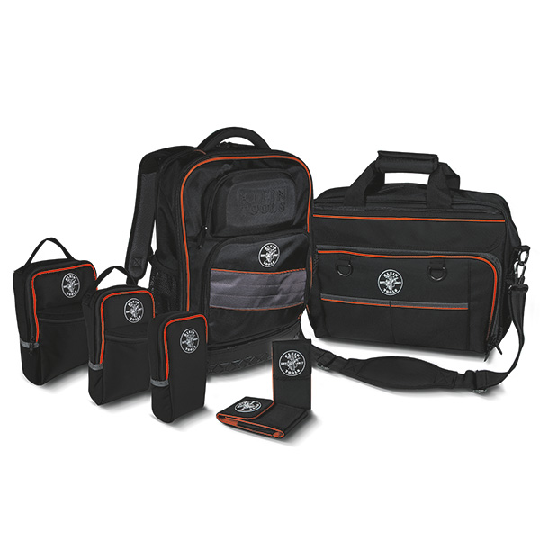 Products include tool bags, meter carrying cases, and phone holders