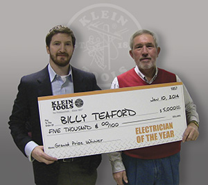2013 Electrician of the Year -- Billy Teaford