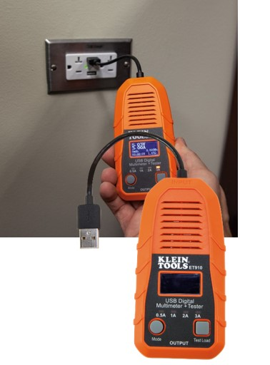 Klein Tools USB-A Digital Meter and Tester (ET910)