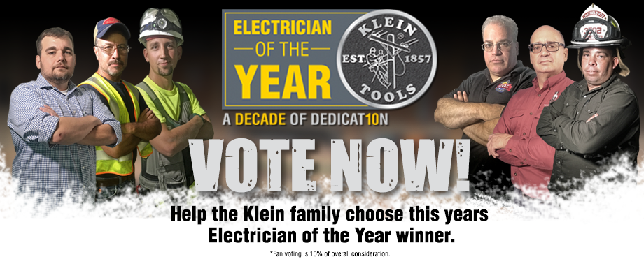 Klein Tools 2016 Electrician of the Year - vote now