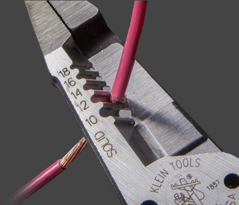 Heavy Duty Wire Strippers - Precision Ground Stripping Holes