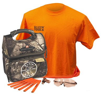 Klein back-to-school kit with camo cooler