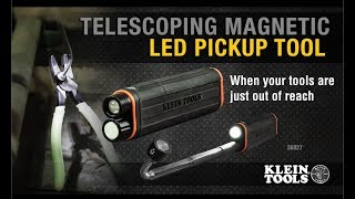 Telescoping Magnetic LED Pickup Tool