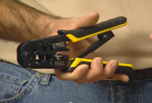 Klein Tools Ratcheting Modular Crimper-Stripper