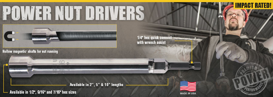 These Hollow Shaft Magnetic Nut Drivers Are Designed For Long Bolts Studs Or Threaded Rod Jobs Great Heavy Duty Running